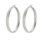 Packaging Customization E-577 Xuping Fashion Customizable Ladies Stainless Steel Big Earing Sets Women Jewelry Wholesale Hoop