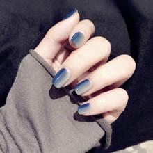 Черные искусственные ногти матовые миндальные накладные ногти на шпильках искусственные Im пресс на ногти кончики полное покрытие острые Nep...(Китай)