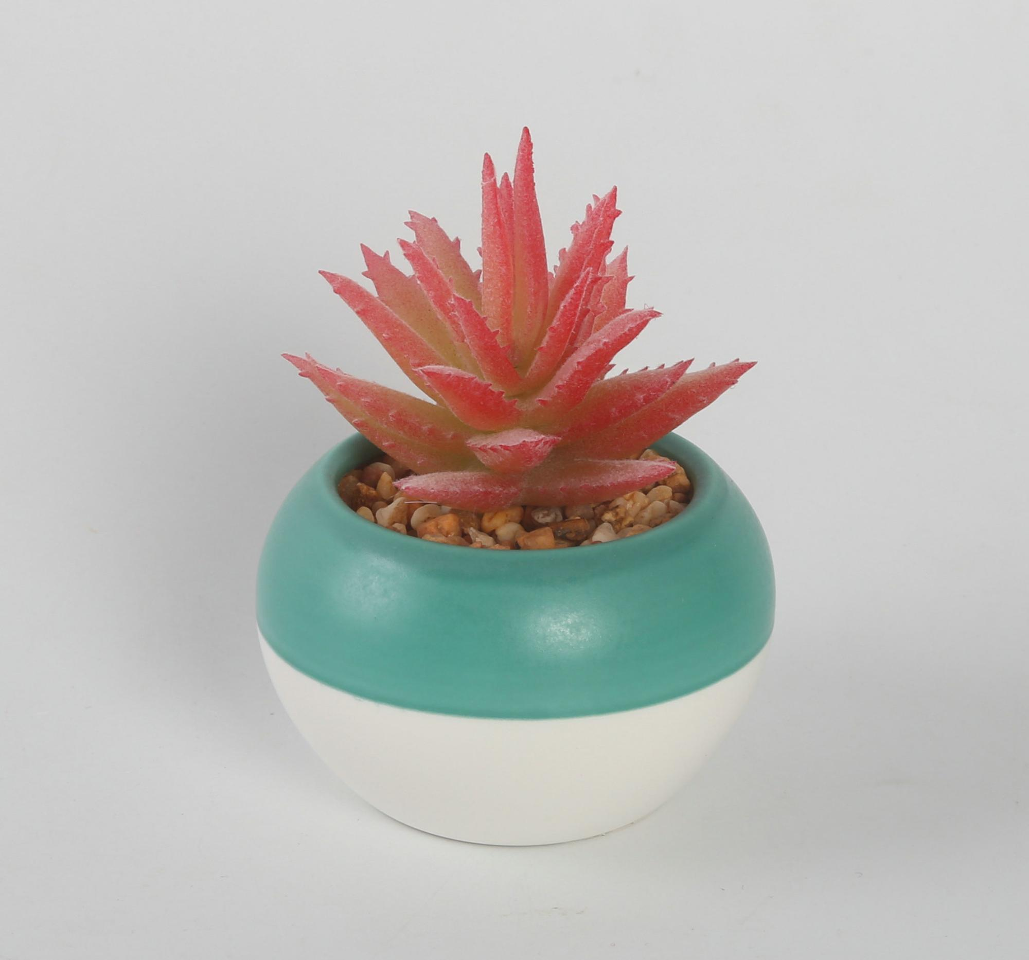 Hot selling cheap bulk novelty artificial plant bonsai pot with ceramic flower pot
