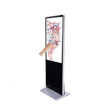 55 inch floor standee touch interactieve led signage display, Ondersteuning Android/Windows online content publishing