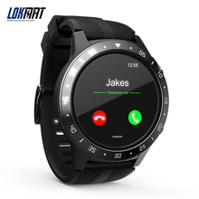 LOKMAT Homens Relógio Inteligente Modo de Chamada Bluetooth Heart Rate Sport GPS Smartwatch para <span class=keywords><strong>Android</strong></span> ios