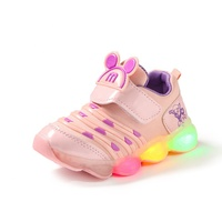 glowing Kids Led Shoes For Girl Toddler Girls Sneakers Children Cartoon Sneakers With Light Soft Sports Led Shoes 21-30