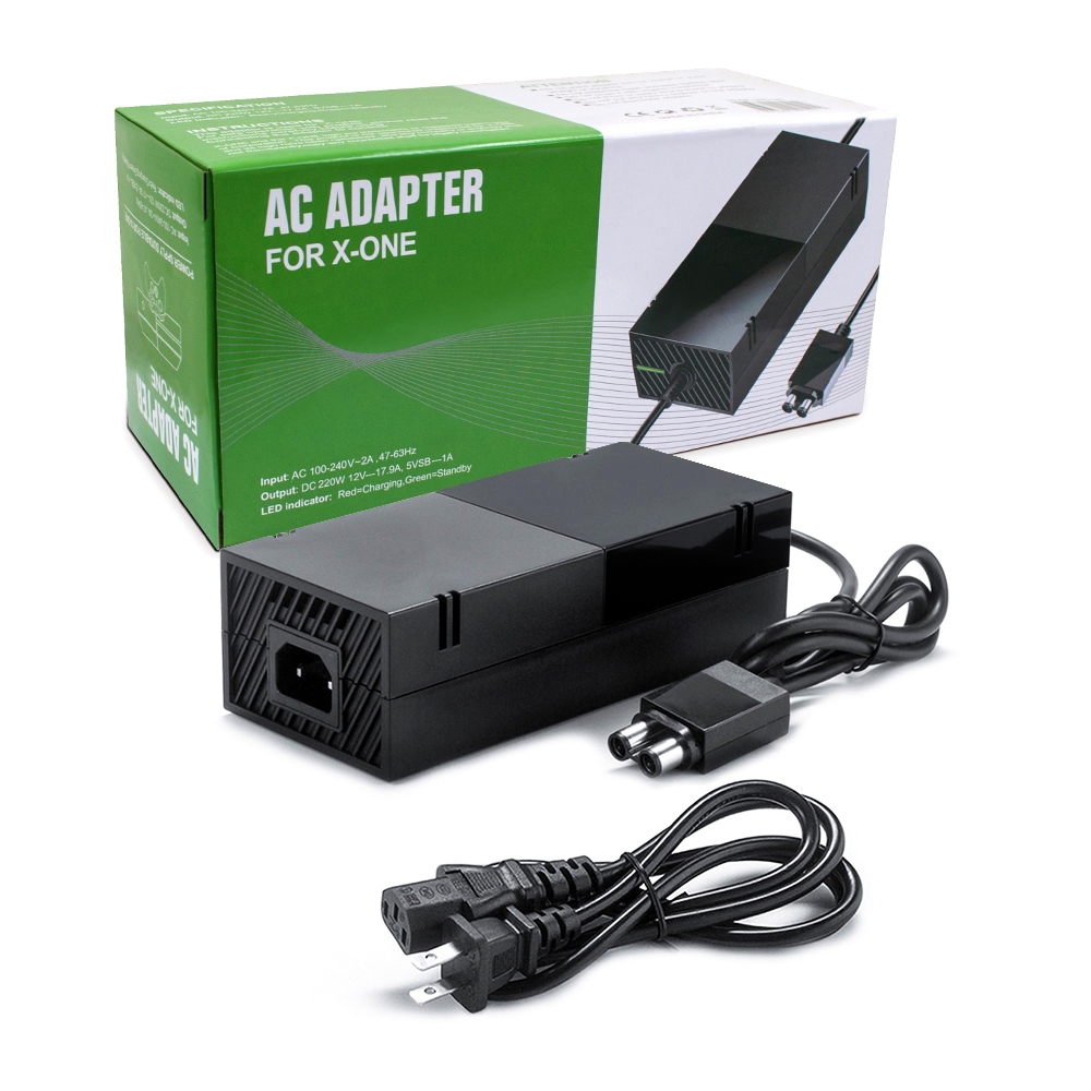 Mới Nâng Cấp Xbox Một Nguồn Cung Cấp Điện Gạch Với Dây Điện, (Tiếng Ồn Thấp Phiên Bản) AC Adapter Cung Cấp Điện Phụ Trách Cho Xbox Một Giao Diện Điều Khiển