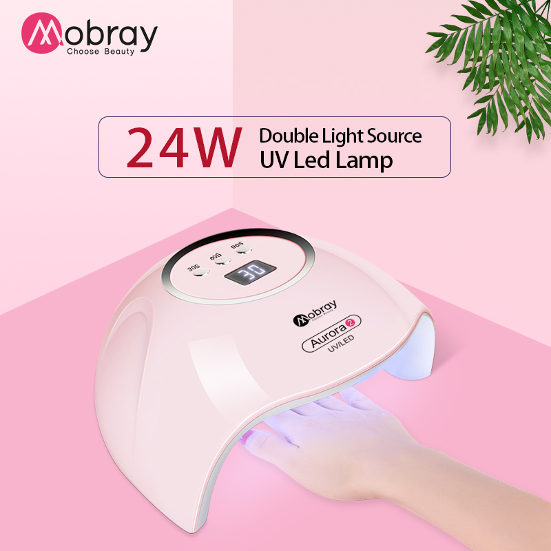 24 W LED UV Dryer Smart Auto-sensing Nail Curing Lamp for Fingernail