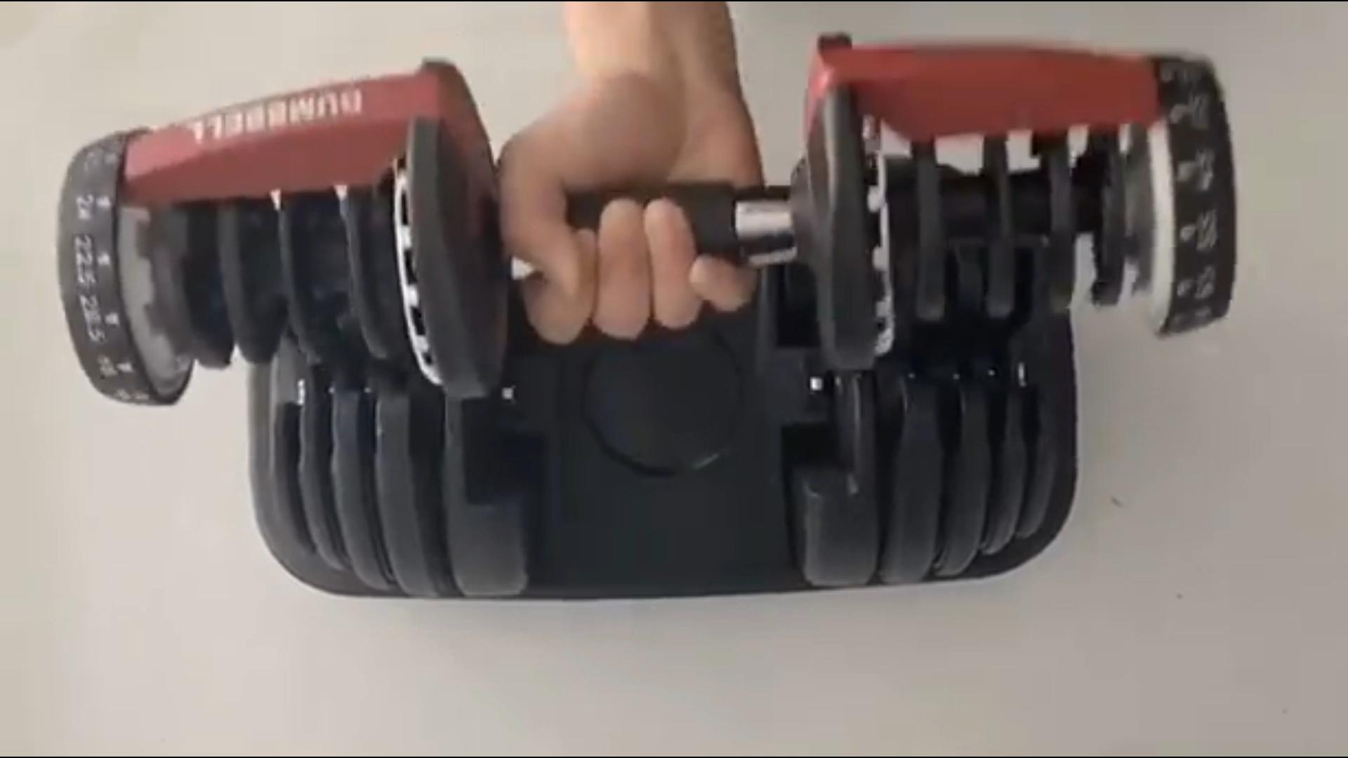 Di recente fornito ferro regolabile manubri 40kg manubri set a buon mercato sacchetto personalizzato supporter