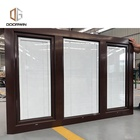 Double glass panel casement window Double Glazed Swing Window with built-in shutter