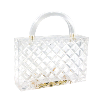 Luxury Evening Clear Acrylic Bags Square Women Hand Bags Ladies Clutch bags