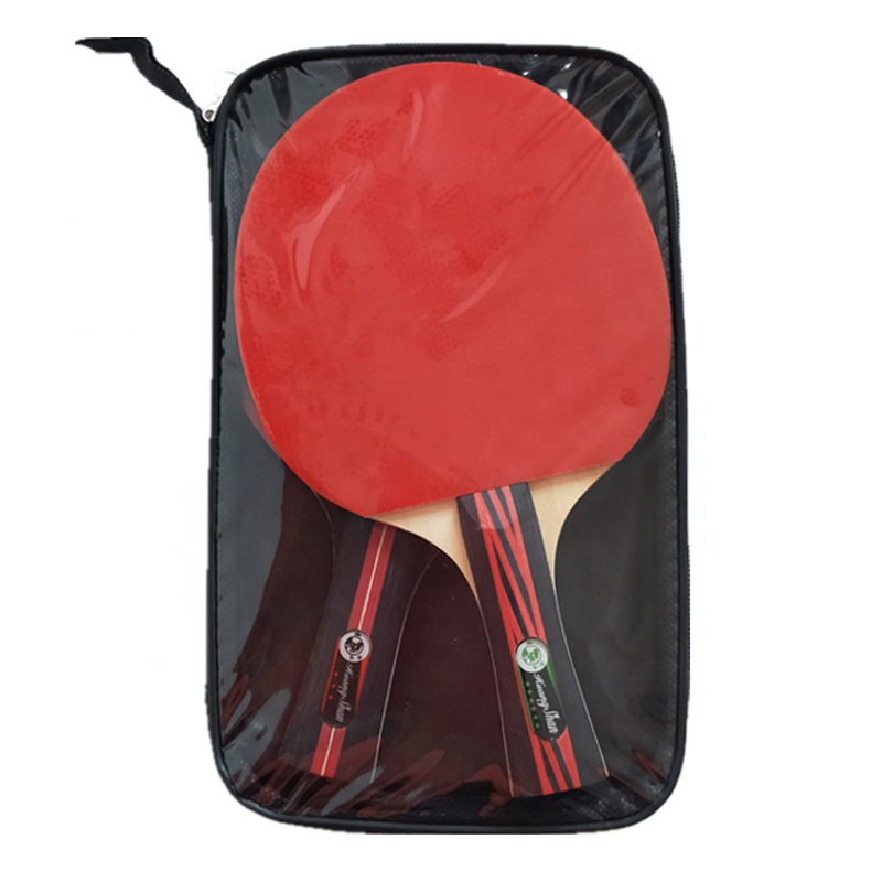 Factory direct sale table tennis racket sets 2 racket Material Ayus blade + high elastic rubber sponge table tennis racket