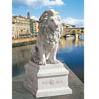 Hot quality Decorative life hand-carved outdoor Lion of sentinel statue