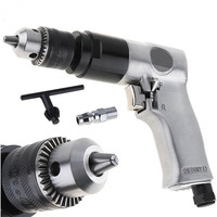 "3/8"" 1800rpm High-speed Cordless Pistol Type Pneumatic Gun Drill Reversible Air Drill Tools for Hole Drilling"