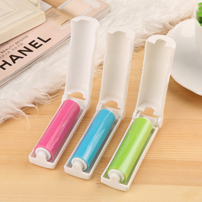 Portable Sticky Washable Lint Roller With Cover for Wool Sheets Hair Clothes cleaner Dust Catcher remover Dust Lint Roller