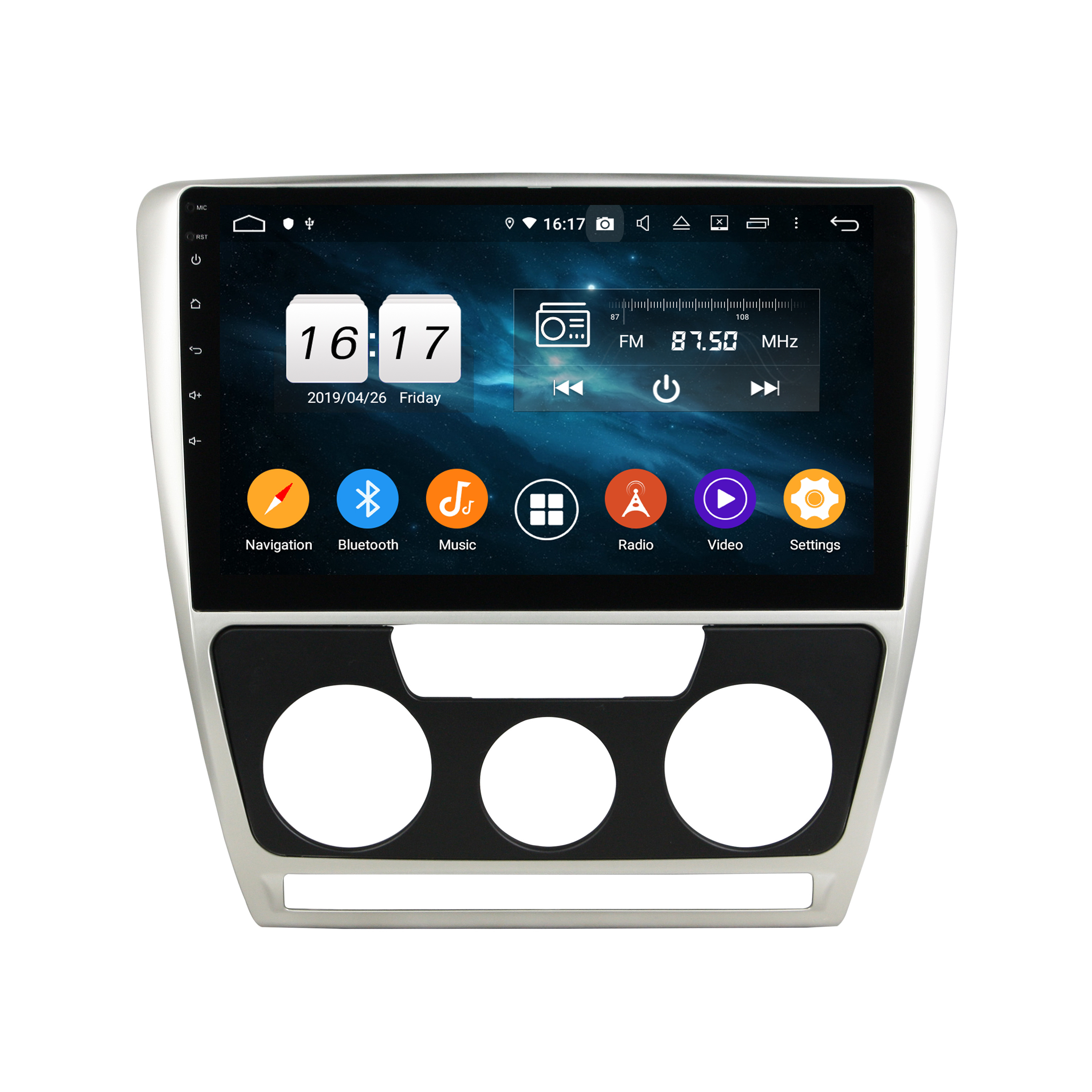 Klyde KD-1211 best seller car stereo android audio with GPS RDS Android Auto Bluetooth for Octavia  2007-2009