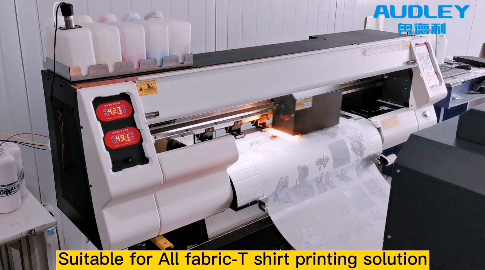 Nova tecnologia Pigmento Impressoras Camiseta Máquina De Impressão para Camisetas por Máquina de Secar Roupa Em Pó