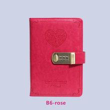 Дневник B6, книга с паролем и замком, ретро-ноутбук, дорожный школьный подарок для девушек, дневник, деловой планировщик(Китай)