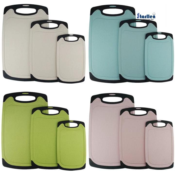 3 piezas de corte de plástico junta con jugo de ranuras BPA libre lavavajillas no-Slip