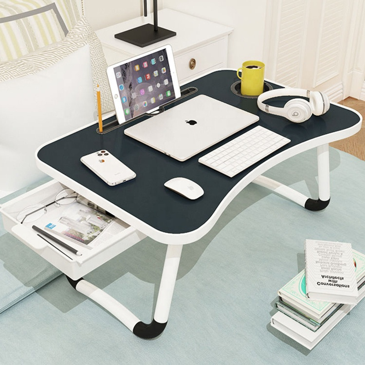 Adjustable folding bed <strong>laptop</strong> <strong>table</strong> tray lap drawer desk