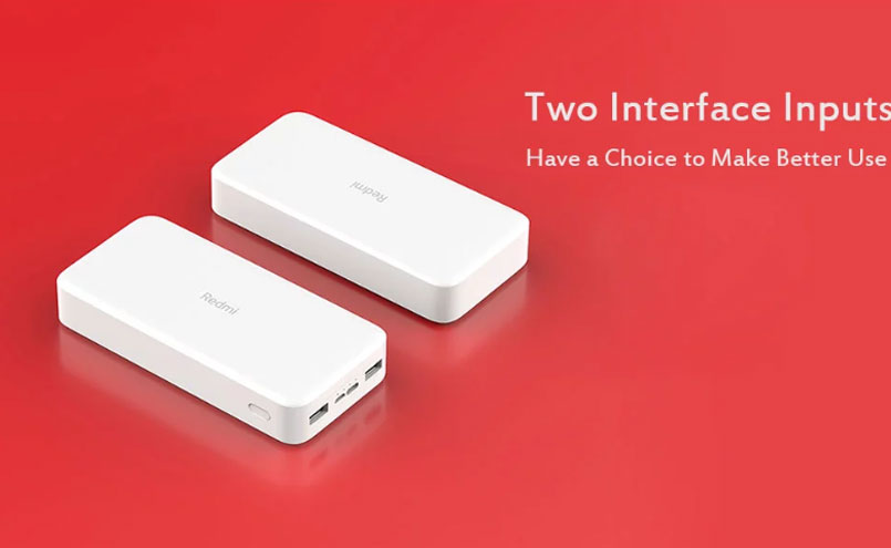 Xiaomi Redmi Power Bank 20000mAh Dual USB Backup Battery 20000mAh Redmi PowerBank