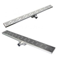 Weldon Bathroom accessories floor drainer/shower drain Stainless Steel Big Size Long Rectangle Linear Bathroom Floor Drain