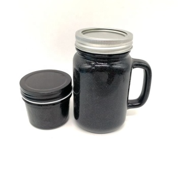 taper shaped black mason jar glass mug 4oz 16oz