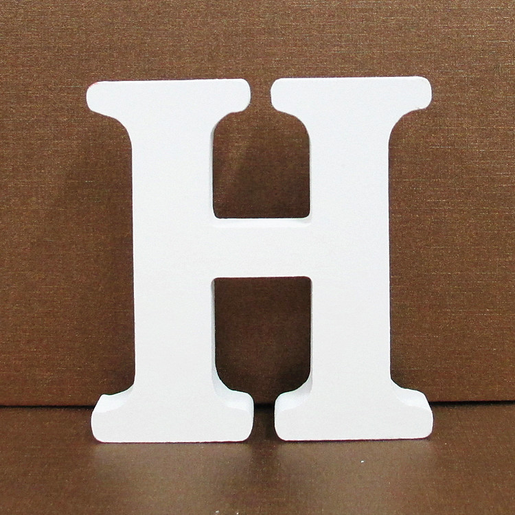 26 Pcs White Wooden Letters English Alphabet Lettre en bois for DIY Personalised Name Wedding Home Decor