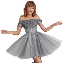 Vkbridal/Выпускные платья с открытыми плечами; Новое поступление 2020 года; Бальное платье из тюля; Вечерние платья ручной работы с бисером(Китай)