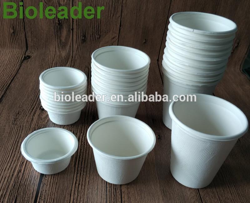 Weiß Kompostierbar Einweg Tasse-100% Biologisch Abbaubar Zuckerrohr Bagasse, Papier und Kunststoff Alternative, 5 unzen (140 ml)