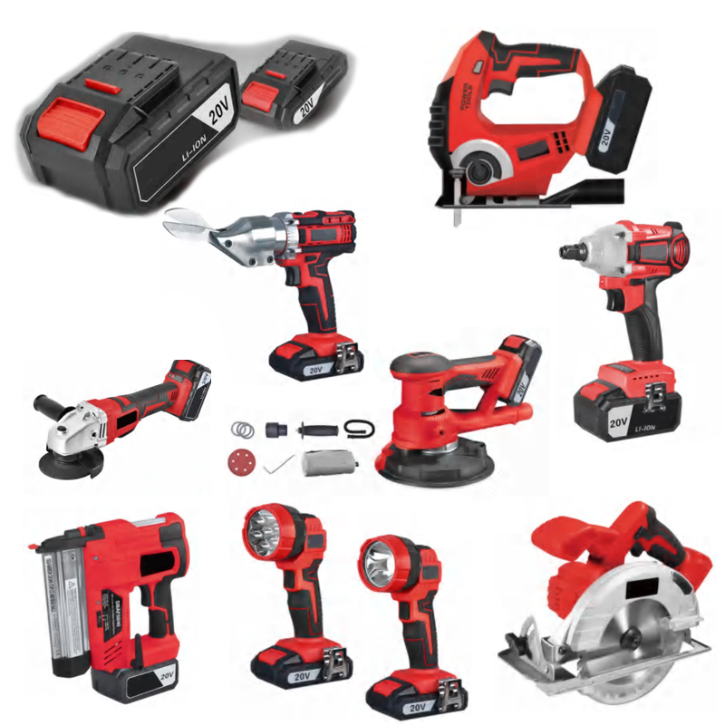 N in one 20V High Quality Cordless Impact Wrench Tools Lithium-lon combo kits cordless power tool set