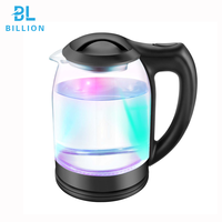 3 Colors LED light Most Popular Electric Kettle 1.8L1800W Glass Body Design Electric Water Kettle Glass for Home Appliance