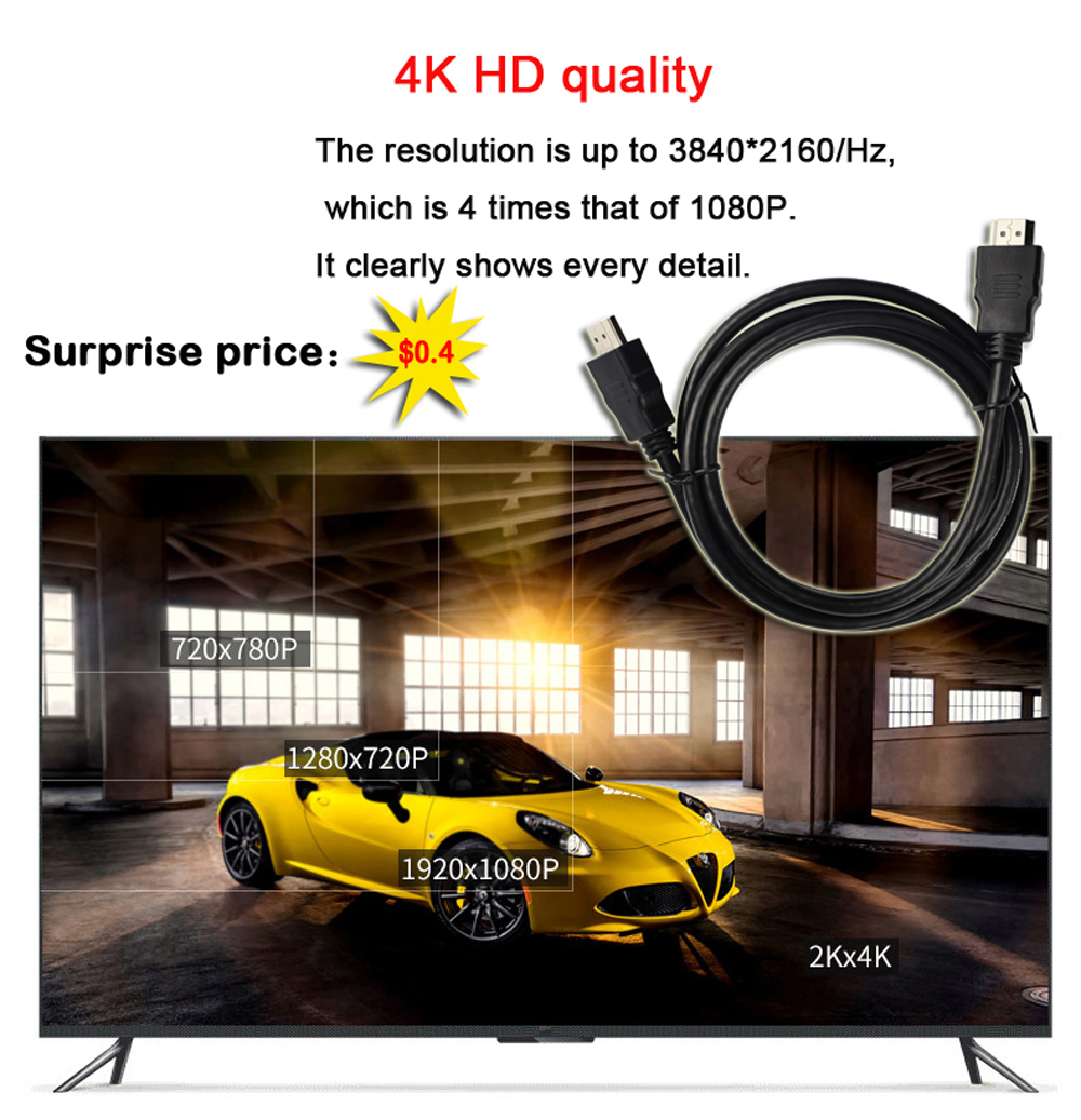 SIPU high speed 1m 1.5m 3m 5m 10m 15m 20m 25m 30m support ethernet hdtv 3d 4k hdmi to hdmi cable