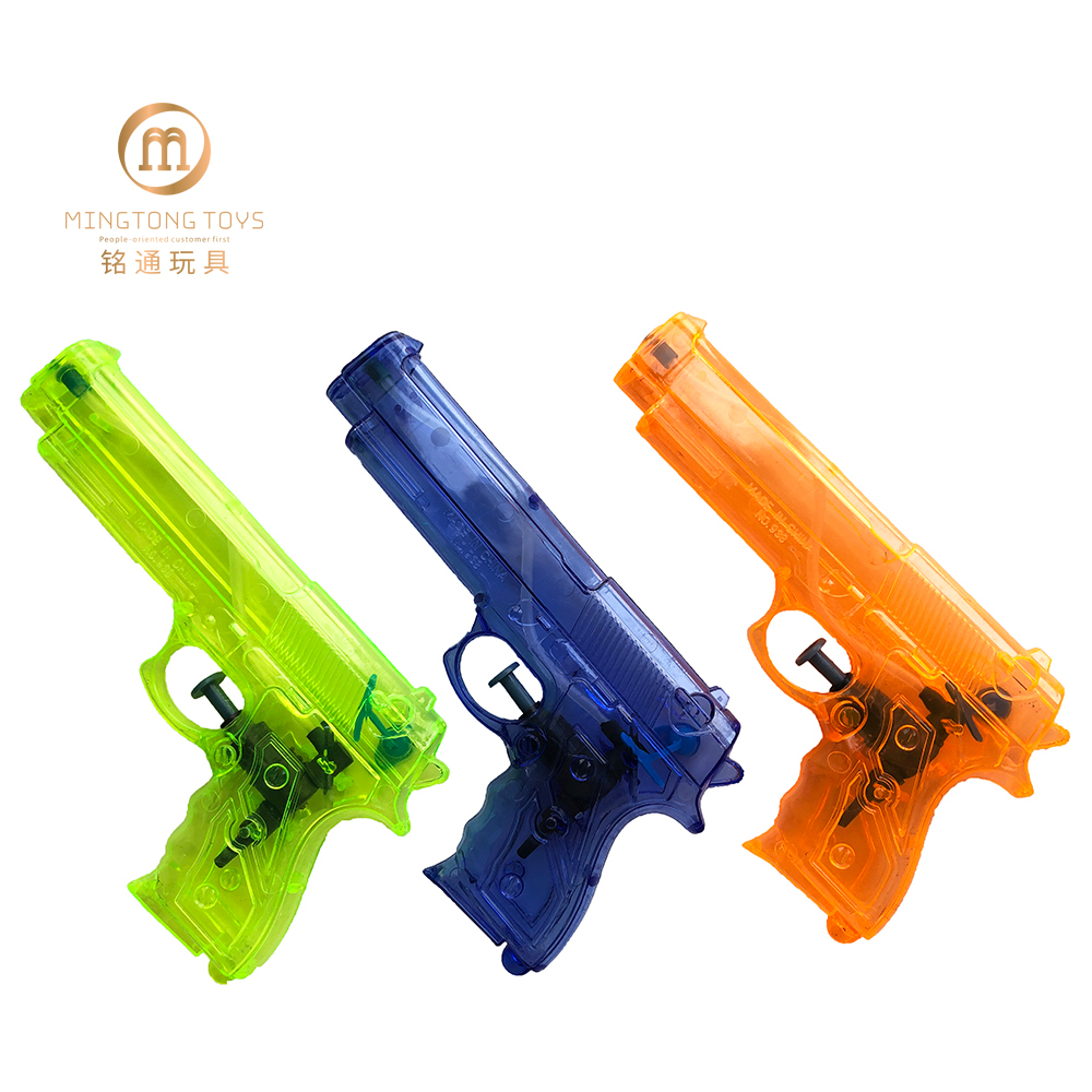 Hot sales customize logo transparent plastic toy water <strong>gun</strong> for kid