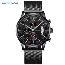 CRRJU Топ люксовый бренд Мужские Бизнес Аналоговые кварцевые наручные часы с ремешком из нержавеющей стали Relogio Masculino Horloges Hours(Китай)