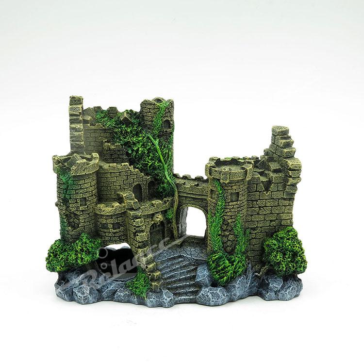 Antique Castle Ruin Ornament for Aquarium Fish Tank Landscaping Decoration