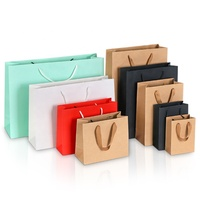 Custom Logo Thick Clothing Gift Packing Bags Shopping Kraft Paper Bag