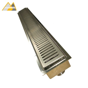 AVBS End Drop Outlet Design Stainless Steel 304 Or 316 Cleanroom Floor Drain, Linear Floor Drain, Concealed Floor Drain