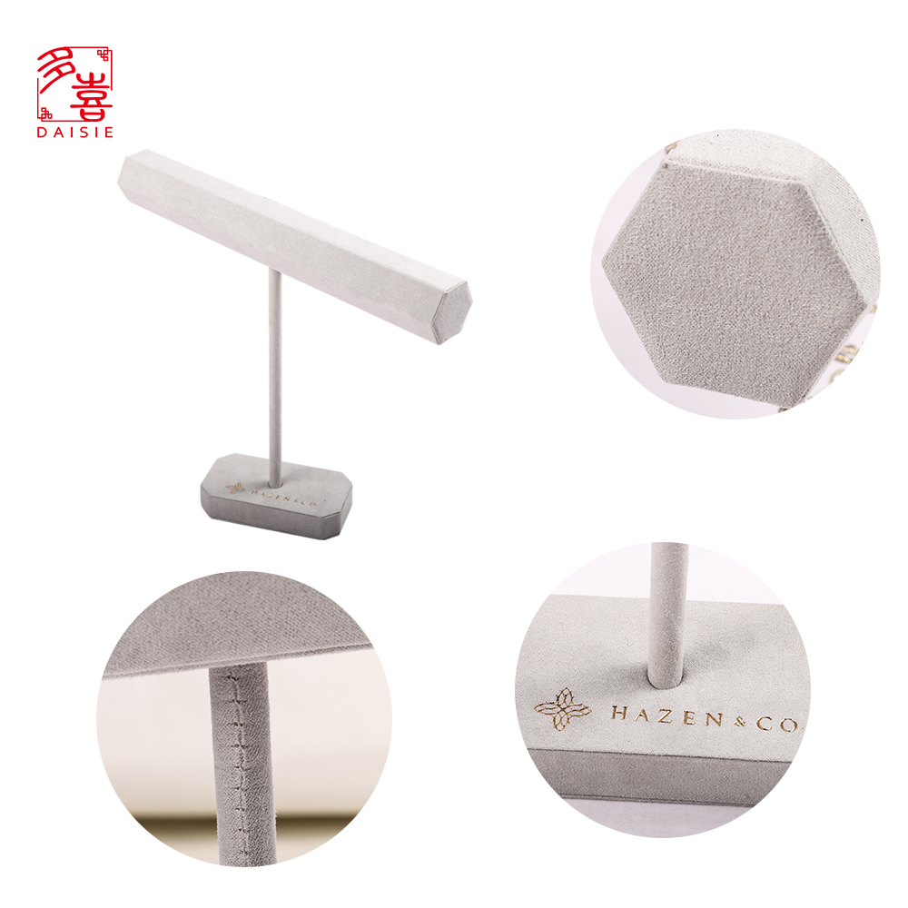 Pure White Beautiful PU Leather For Jewelry Display Stand