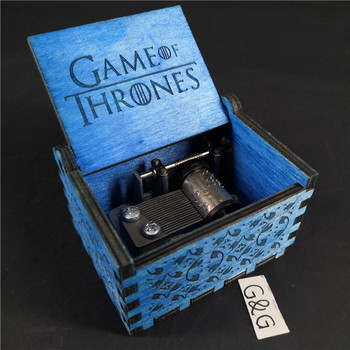 Mini Hand Crank Wooden Game of thrones Music Box