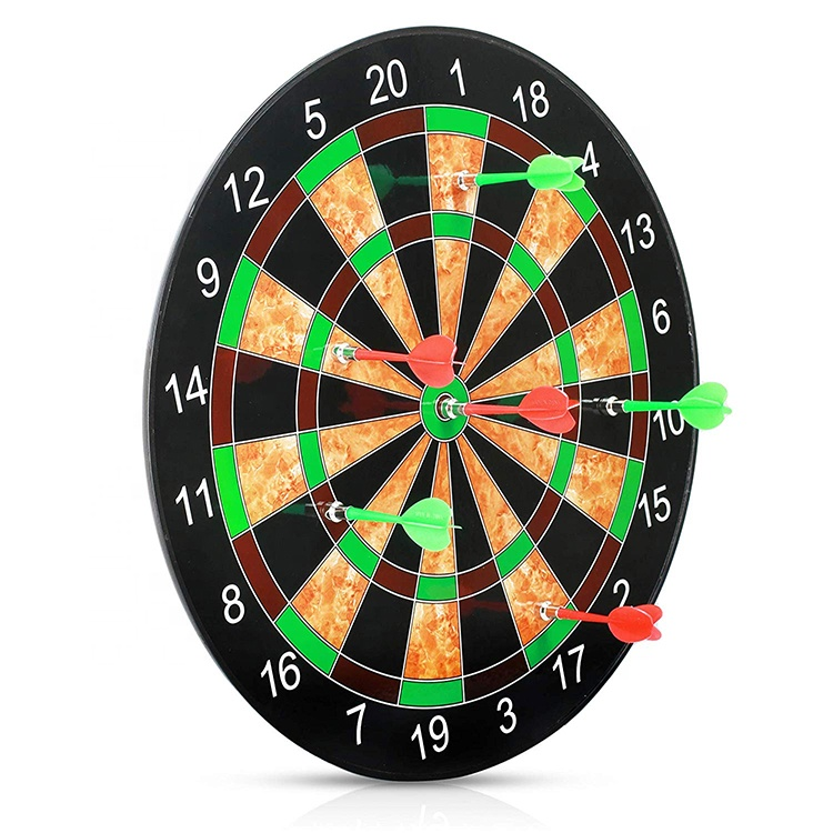 Plastic Round Shape Magnetic Dart Board With Darts