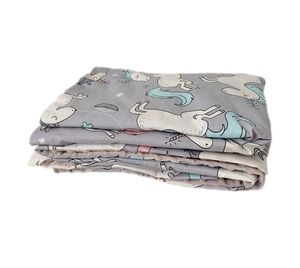 Fugari Soft Cotton Unicorn Printed Double Layer Dotted Backing Minky Receiving Blankets For Children