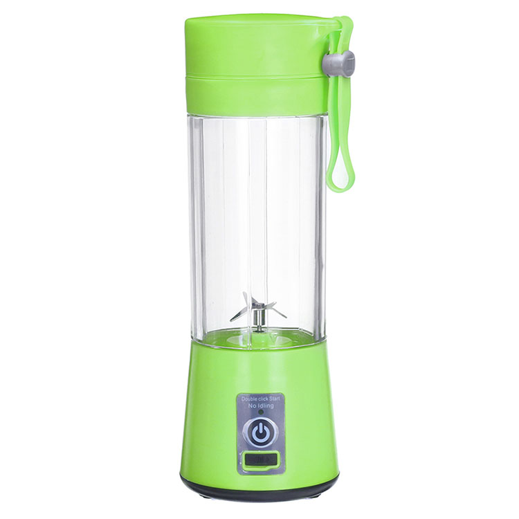 Kitchen Appliance 380ml Mini USB Rechargeable Personal Portable Smoothie Fruit Blender With Six Blades