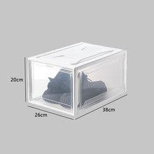 Складная прозрачная коробка для обуви с высоким берцем, коробка для хранения, Штабелируемая обувь, органайзер, Баскетбольная обувь на высок...(Китай)