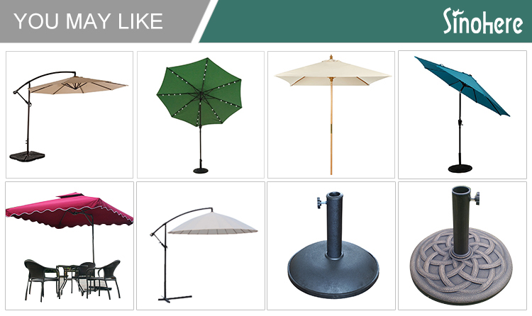 Hanging sun garden fiberglass umbrella
