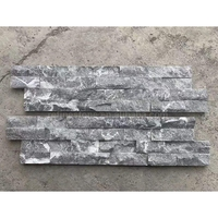 Dark Grey Culture Style 3d Tile Stone Panel For Wall