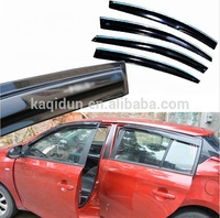 PC black auto exterior accessories window door visors rain shield wind deflector for Toyota Yaris 2014