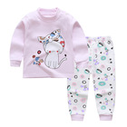 Autumn 100% Cotton Home Clothing Kids Clothes Sets for Children with Cartoon Printing and Dyeing for Boys and Girls