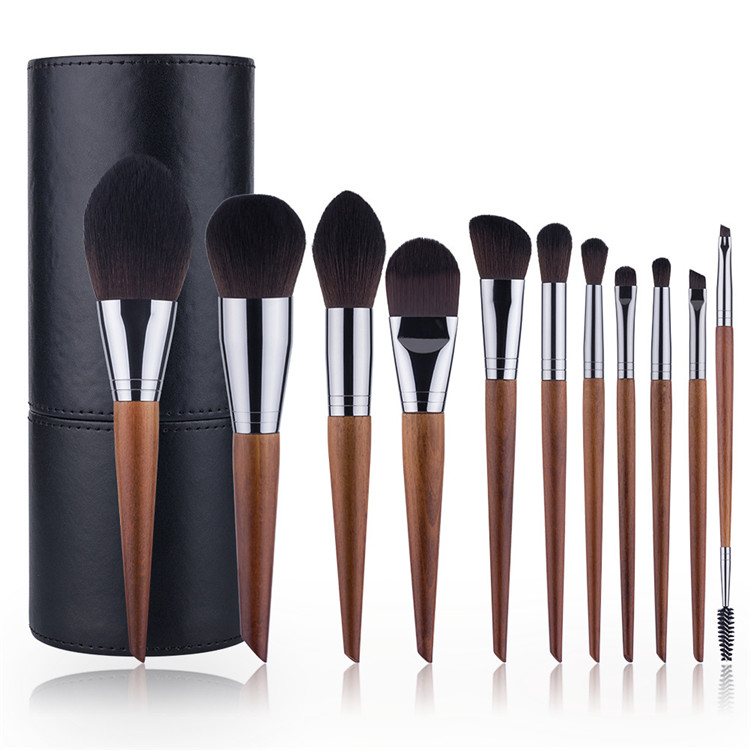 2020 <strong>High</strong> <strong>Quality</strong> Custom Logo Private Label Vegan <strong>Makeup</strong> <strong>Brushes</strong> Sets Wood Luxury <strong>Makeup</strong> <strong>Brush</strong> Set