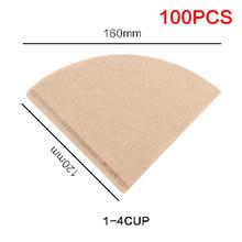 Фильтровальная бумага для кофе неотбеленная 100% натуральная фильтровальная бумага для кофе стильная Кофеварка подходит для 1-2 чашек и 1-4 чаш...(Китай)
