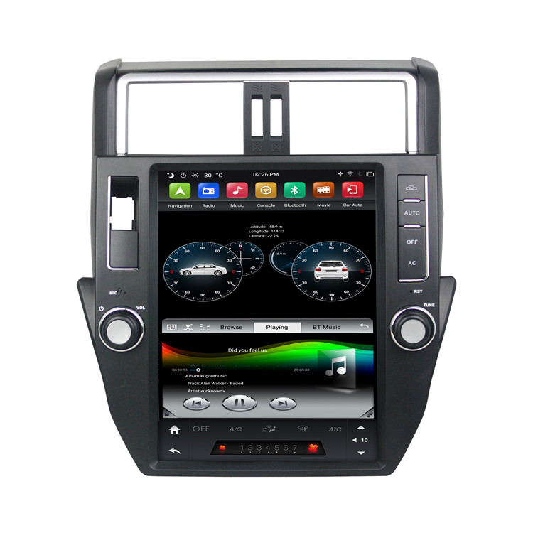Tesla Android 9.0 PX6 4 + 32 Gb Car Video Car Dvd Mp3 Player Auto Radio per Toyota Prado150/ LC150 2010-2013 con Google Play/Carplay