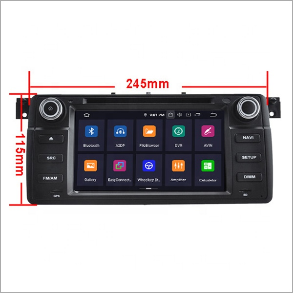 Newnavi Auto Multimedia Player Dsp Radio 4G di Ram 64 Gb Rom Android 9.0 Gps Del Dvd Dell'automobile per Bmw E46 /M3 Accessori Supporto 3G/Wifi/Tpms