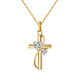 Daochong design S925 cz cross faith Necklace silver faith Delicate pendant