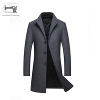China manufacturer long woolen fashion high quality duffel man coat